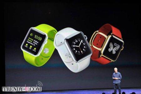 Смарт-часы iWatch 2015 на презентации Apple