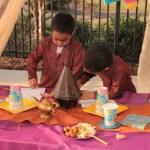 Arabian night kids birthday party card making