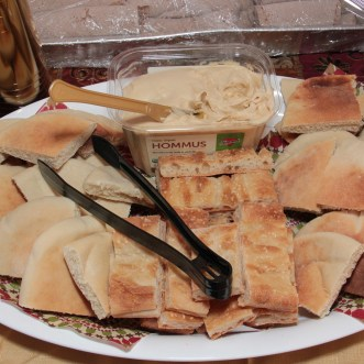 arabian night birthday party hummus and pita bread