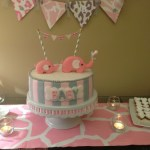 Pink and gray Elphant baby shower (10)