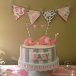 Pink and gray Elphant baby shower (7)