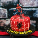 super cool Spiderman cake birthday party