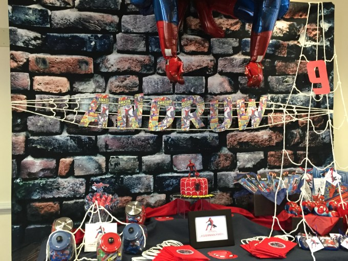 Spiderman birthday party customized idea