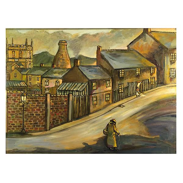 Longton-Street-Scene-Derek-Higginson-Trent-Art