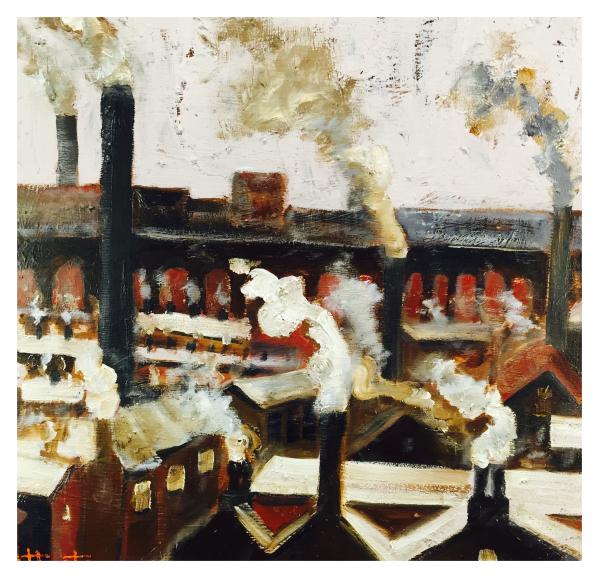 Chimneys and Smoke, William Atherton