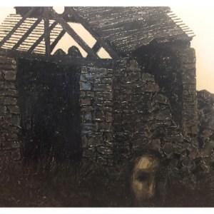 Simcock, Jack (1929-2012) Derelict Barn with Figure