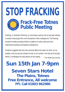 Stop fracking event
