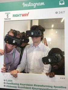 Tideway staff using VR headsets