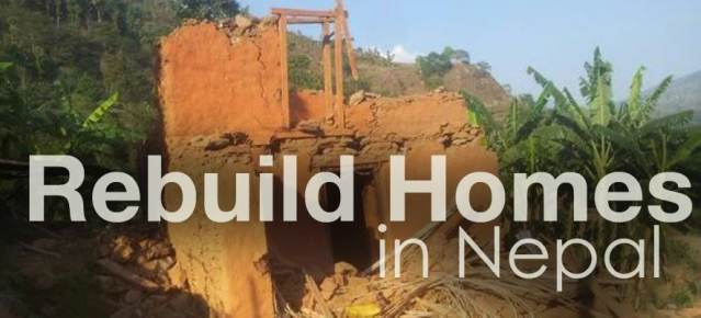 Rebuild homes in Nepal