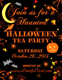 Halloween Tea Party Button