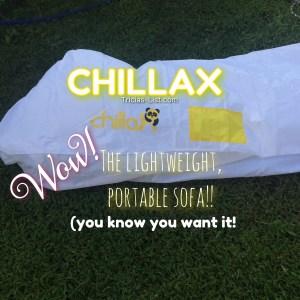 #Chillax – The lightweight portable sofa. GET IT PEOPLE!