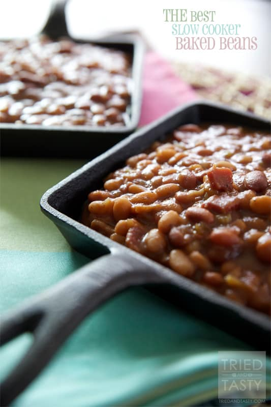 THE Best Slow Cooker Baked Beans - Tried and Tasty