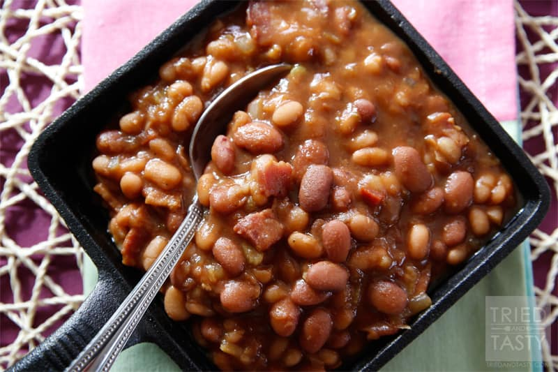 THE Best Slow Cooker Baked Beans // Tried and Tasty