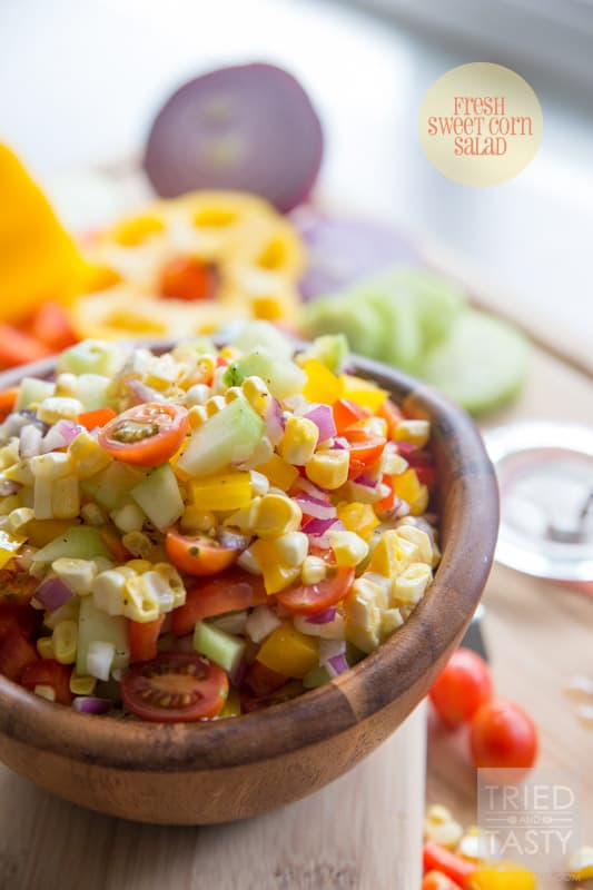 Fresh Sweet Corn Salad // Nothing screams summer like fresh corn! Am I ...