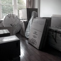 Our belongings, finally 'home'