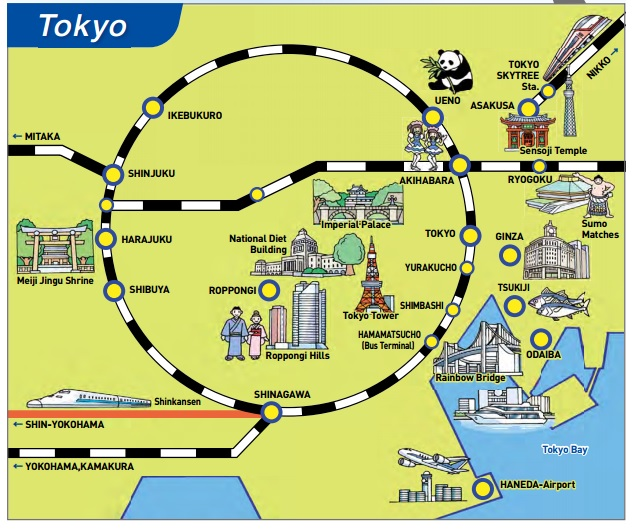map with tokyo