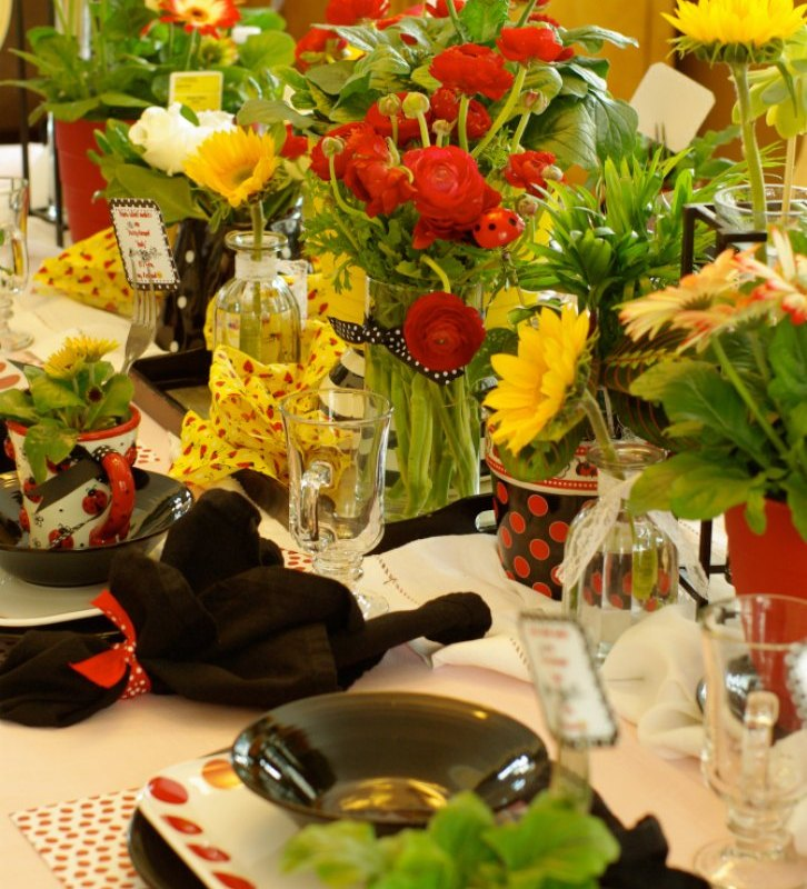 "CELEBRATING THE LADIES OF THE HOUSE WITH A ""LADY BUG"" THEMED TEA PARTY"