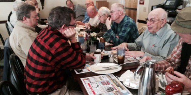 Seasoned Mens Group celebrates Bob Zink's 96th Birthday