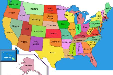 pics photos colored united states map