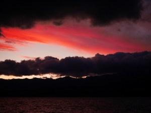 Solnedgangen ved lake Pukaki
