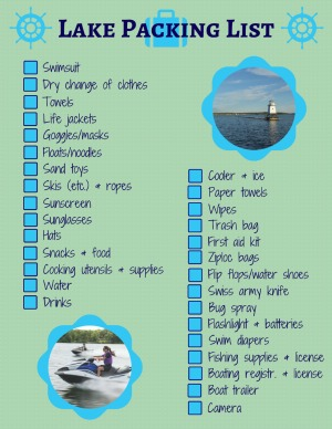 What to pack at the lake for a day with kids for Lake powell fishing license