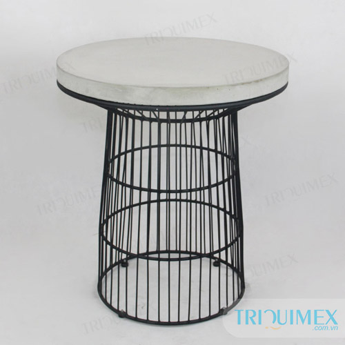 Round concrete table top
