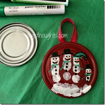 Handprint Snowman Ornament - Creative Simplicity by Trish Sutton