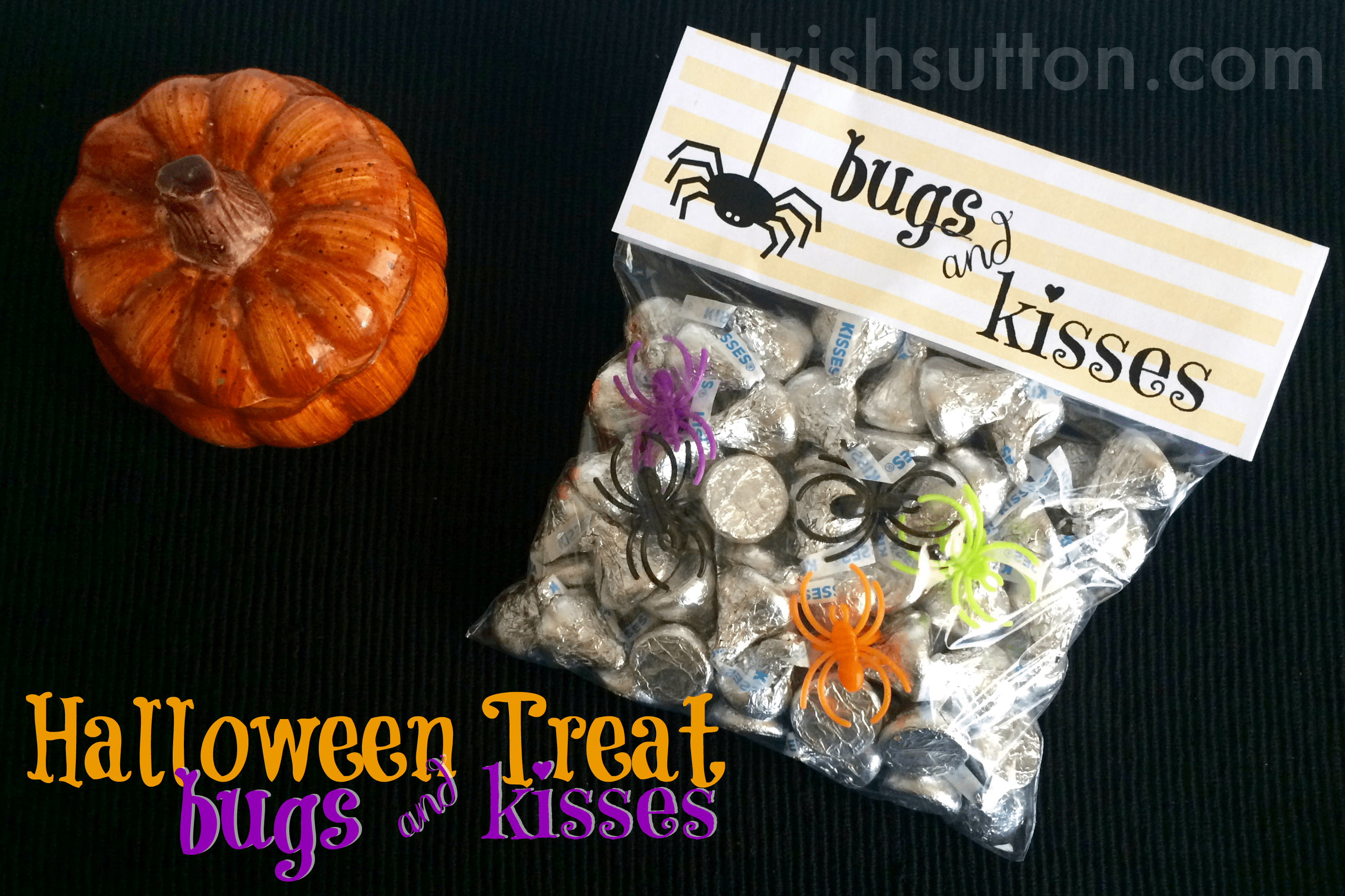 image regarding Bugs and Kisses Free Printable identify Insects Kisses Halloween Take care of Bag Do-it-yourself