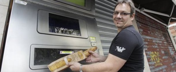 Vending machine dispenses freshly-baked baguettes