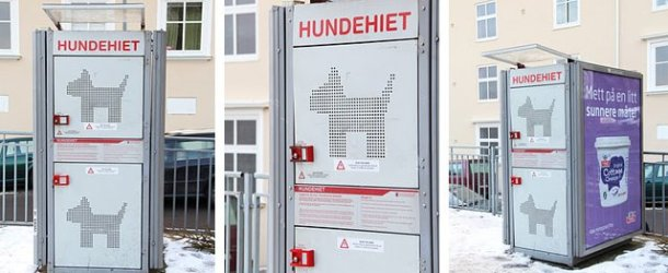 In Norway, dog 'locker' keeps pets safe while owners shop for groceries