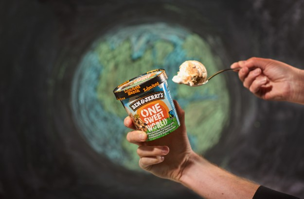 Ben & Jerry's latest flavor, One Sweet World, is part of the company's campaign for social and economic justice. (PRNewsfoto/Ben & Jerry's)