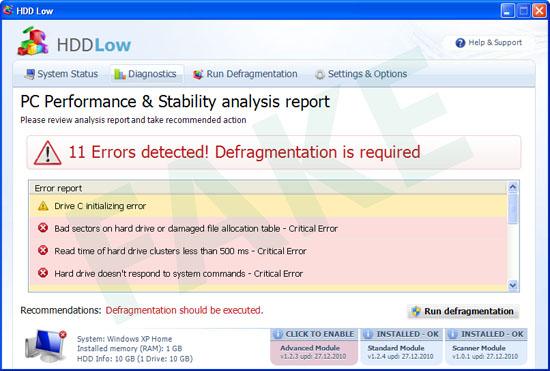 HDD Low fake