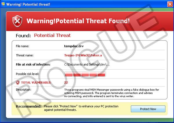 Windows System Defender: fake alert