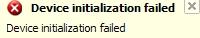 Device initialization failed