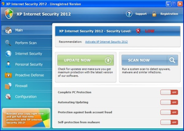 XP Internet Security 2012 virus