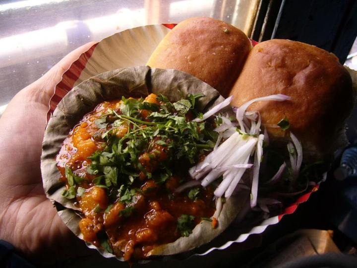 vegetarian food, pav bhaji