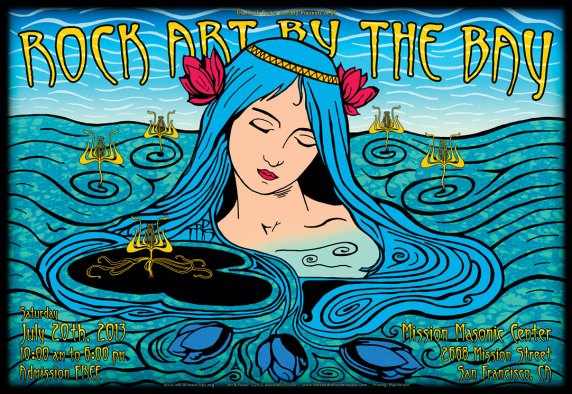 TRPS Rock Art By The Bay 2013 poster by Alexandra Fischer