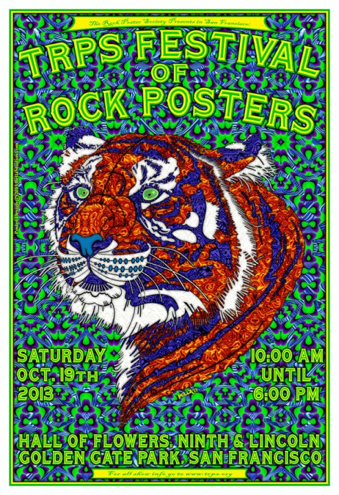 TRPS Festival of Rock Posters 2013, poster by Frank Alan Bella
