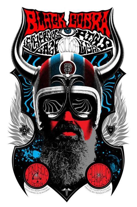 Black Cobra poster by Adam Pobiak
