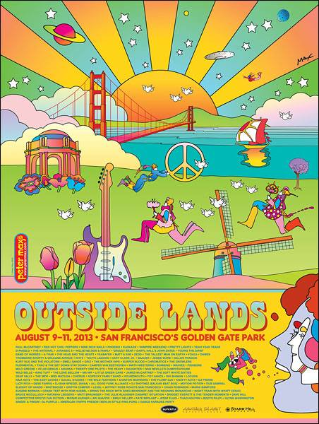 The legendary Peter Max was tapped for the 2013 poster, perhaps because his pal Paul McCartney was on that year's bill.