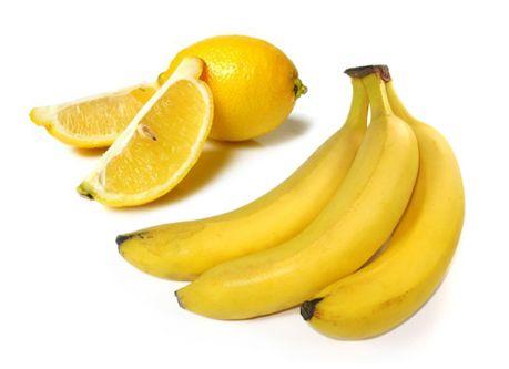 plátano y limón
