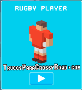 como desbloquear a rugby player crossy road