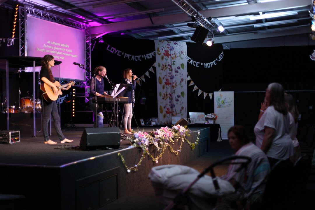Trussing, draping, lighting & engineers for Flourish Ladies Conference