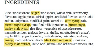 Ingredient-list