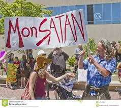 Monsanto Protesters GLyphosate GMO