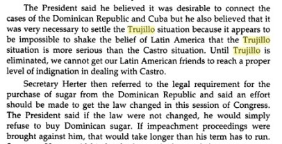trujillo must be eliminated before castro in sugar problem .