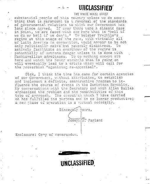 dissidents communist-farland memo 4
