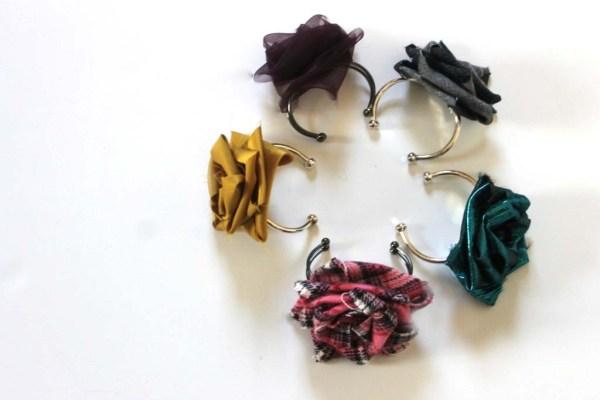 Fabric flower bracelets