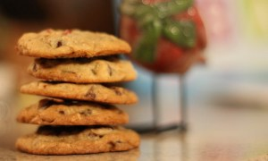 Wintery Chocolate Chip Cookies