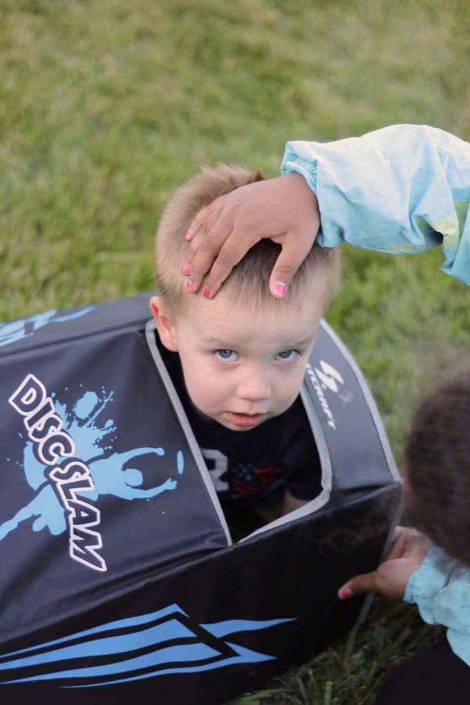Kid stuck in a DiscSlam
